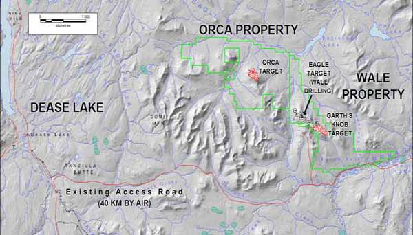 Orca and Wale Property Location Map